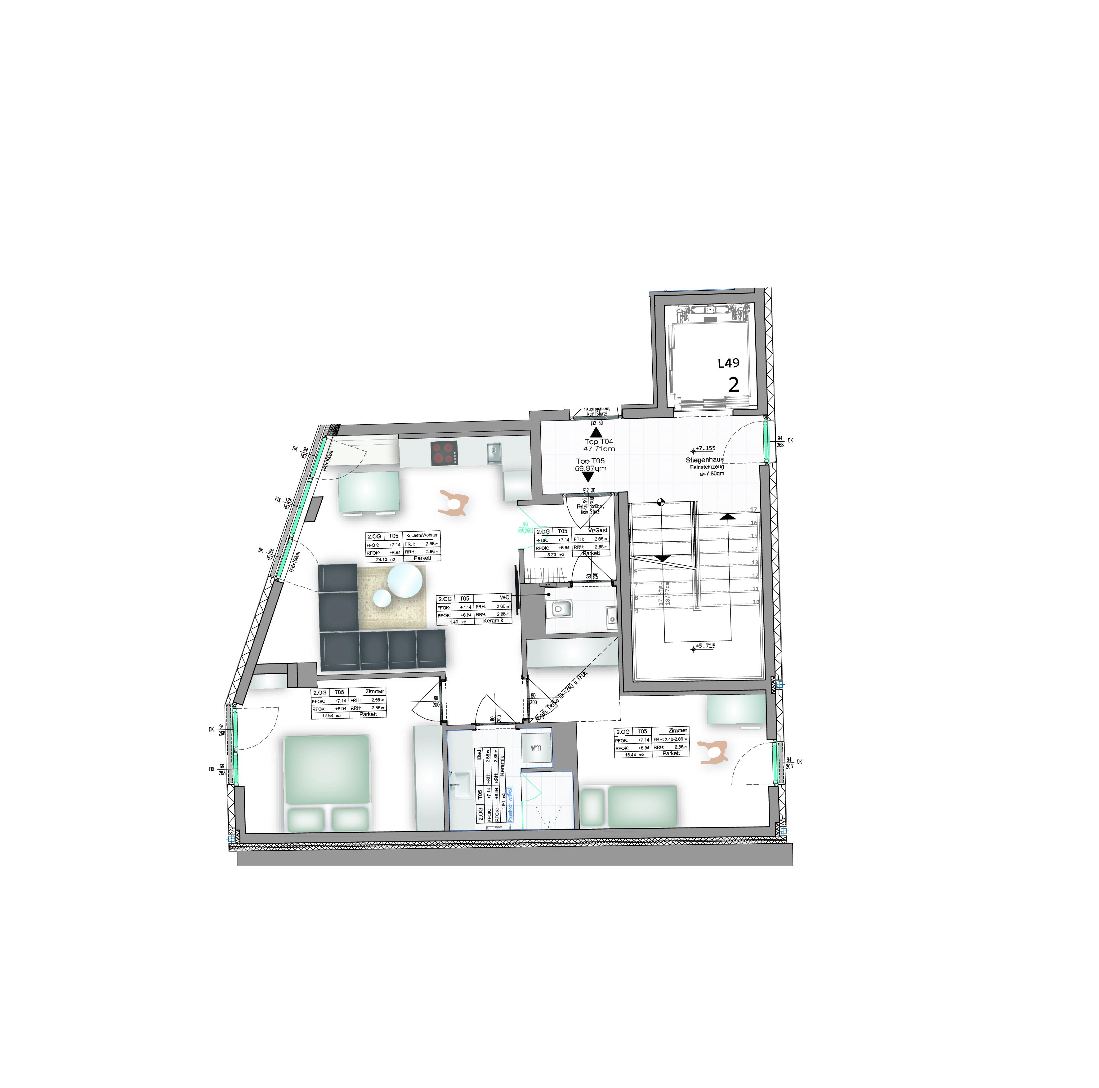 Geidorf. Traumhafte 3 Zimmerwohnung - WG-fähig