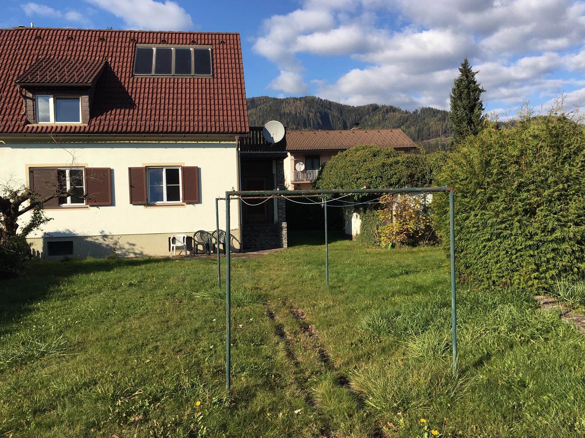 St. Marein -  In der Ruhe liegt die Kraft - Sehr schönes ebenes Grundstück mit sanierungsbedürftiger Doppelhaushälfte